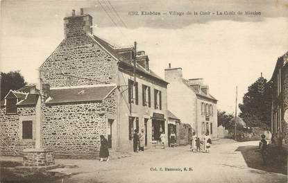 """/ CPA FRANCE 22 """"Etables, village de la cour, la Croix de Mission"""""""