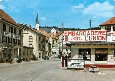 """/ CPSM FRANCE 25 """"Villers le Lac, embarcadère et hôtel de l'Union"""""""