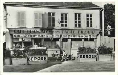 """/ CPSM FRANCE 60 """"Marseille en Beauvaisis, le café français"""""""