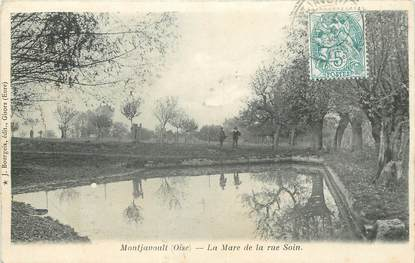 "/ CPA FRANCE 60 ""Montjavoult, la mare de la rue Soin"""
