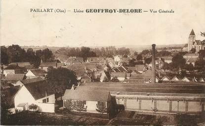 """/ CPA FRANCE 60 """"Paillart, usine Geoffroy Delore"""""""