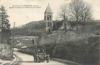 """/ CPA FRANCE 60 """"Environs de Verberie, église Romane de Rhuis"""""""