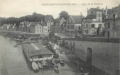"""/ CPA FRANCE 60 """"Pont Sainte Maxence, quai de la Pêcherie"""""""
