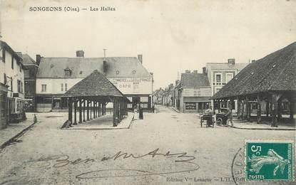 "/ CPA FRANCE 60 ""Songeons, les Halles"""