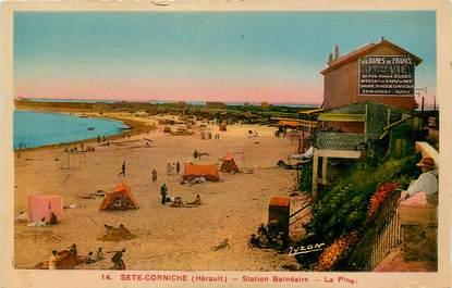 """CPA FRANCE 34 """"Sète, la plage"""""""
