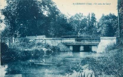 "/ CPA FRANCE 60 ""Saint Léonard, un coin du canal"""