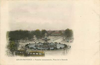 """CPA FRANCE 13 """"Aix en Provence, Place de la Rotonde"""""""