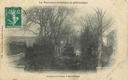 """CPA FRANCE 83 """"Brignoles, le Square du Cours"""""""
