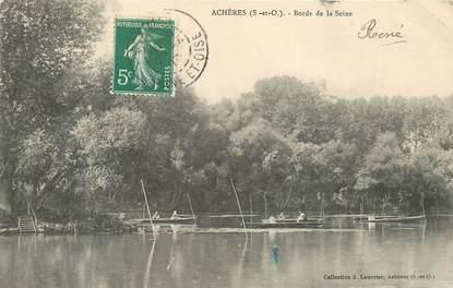 """/ CPA FRANCE 78 """"Achères, bords de la Seine"""""""