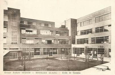 """/ CPA FRANCE 78 """"Houilles, groupe scolaire Velter, école de garçons"""""""