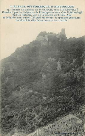 """CPA FRANCE 68 """"Ruines du Chateau de Saint Ulrich près Ribeauvillé"""""""