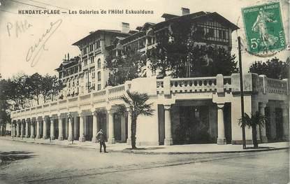 "/ CPA FRANCE 64 ""Hendaye, les galeries de l'Hôtel Eskualduna"""