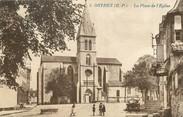 """64 PyrÉnÉe Atlantique / CPA FRANCE 64 """"Orthez, la place de l'église"""""""
