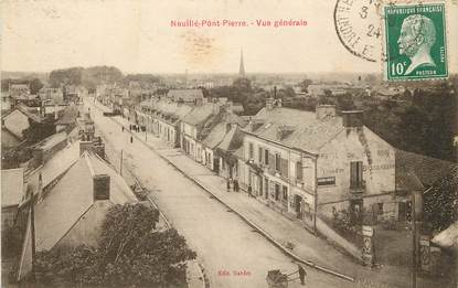 """CPA FRANCE 37 """"Neuillé Pont Pierre, vue générale"""""""