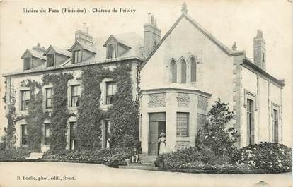 """CPA FRANCE 29 """"Rivière du Faou, Chateau de Prioley"""""""