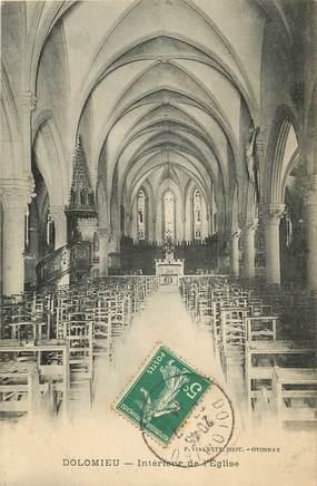 """CPA FRANCE 38 """"Dolomieu, intérieur de l'Eglise"""""""