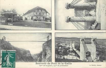 """/ CPA FRANCE 74 """"Souvenir du Pont de la Caille"""""""