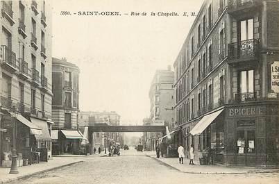 """CPA FRANCE 93 """"Saint Ouen, rue de la Chapelle"""""""