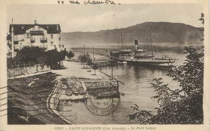 """/ CPA FRANCE 74 """"Saint Gingolph, le port Suisse"""""""