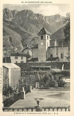 """/ CPA FRANCE 74 """"Saint Gingolph, l'église et le Crammont"""""""