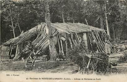 """CPA FRANCE 78 """"Env. de Montfort l'Amaury, cabane de bucherons"""""""