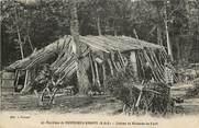"""78 Yveline CPA FRANCE 78 """"Env. de Montfort l'Amaury, cabane de bucherons"""""""