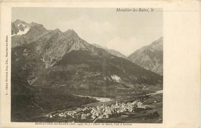 """CPA FRANCE 05 """"Monetier les Bains, dans le fond, Col d'Arsine"""""""