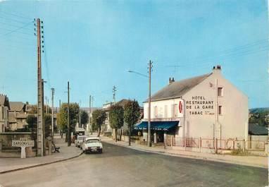 """/ CPSM FRANCE 78 """"Gargenville, hôtel de la gare"""""""