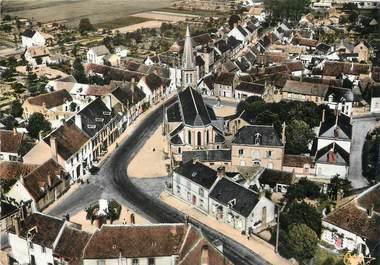 """/ CPSM FRANCE 45 """"Ouzouer sur Loire, vue générale aérienne"""""""