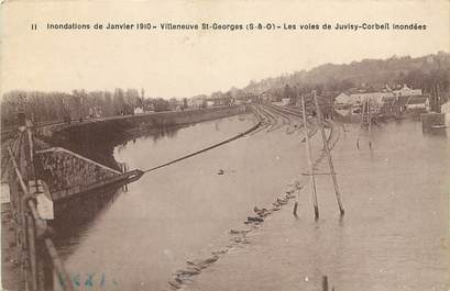 "CPA FRANCE 94 ""Villeneuve Saint Georges, inondations 1910"""