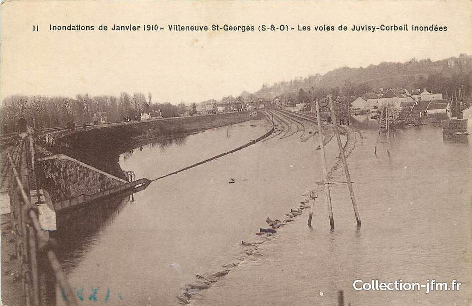 Cpa france 94 villeneuve saint georges inondations 1910 - Piscine villeneuve saint georges ...