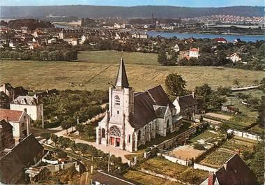 "/ CPSM FRANCE 76 ""Mailleraye, l'église"""