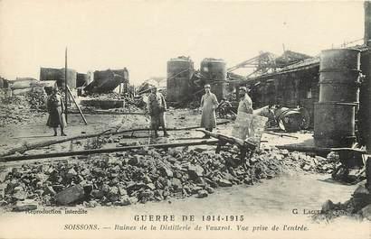"""CPA FRANCE 02 """"Soissons, ruines de la distillerie de Vauxrot, vue prise de l'entrée"""""""