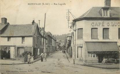 "/ CPA FRANCE 76 ""Monville, rue Legrelle"""