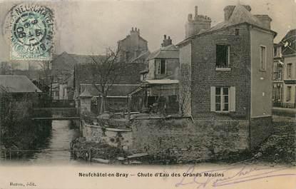 """/ CPA FRANCE 76 """"Neufchâtel en Bray, chute d'eau des grands moulins"""""""