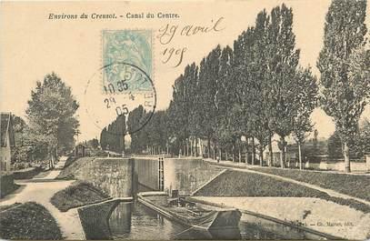"""CPA FRANCE 71 """"Env. du Creusot, canal du Centre"""""""