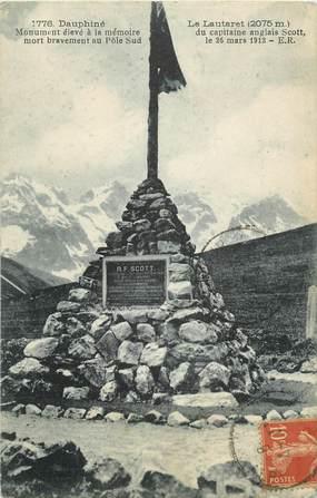 """CPA FRANCE 05 """"Le Lautaret, monument aux morts du capitaine anglais Scott"""" / POLAIRE"""