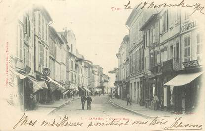 "/ CPA FRANCE 81 ""Lavaur, grande rue"" / Ed. Labouche"
