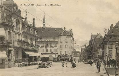 """CPA FRANCE 68 """"Colmar, avenue de la République"""""""