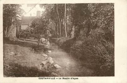 """CPA FRANCE 50 """"Coutainville, le Moulin d'Agon"""""""