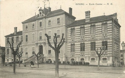 "/ CPA FRANCE 01 ""Bourg, école Carriat"""