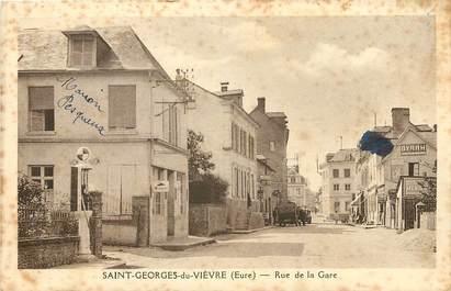 """CPA FRANCE 27 """"Saint Georges du Vièvre, rue de la Gare"""""""