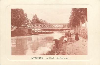 """CPA FRANCE 34 """"Capestang, le canal et le pont en fer"""""""