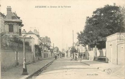 """CPA FRANCE 89 """"Auxerre, avenue de la Puisaye"""""""