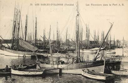 """CPA FRANCE 85 """"Sables d'Olonne, les Thonniers"""""""