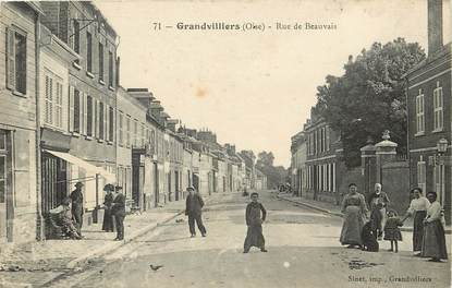 "CPA FRANCE 60 ""Grandvilliers, rue de Beauvais"""