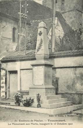 """CPA FRANCE 78 """"Tessancourt, monument aux morts"""""""