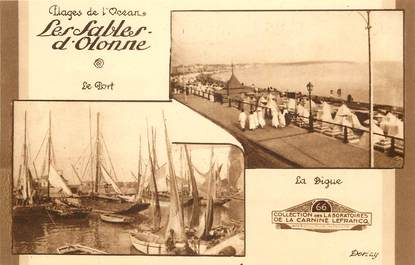 "CPA FRANCE 85 ""Sables d'Olonne, le Port et la digue"""