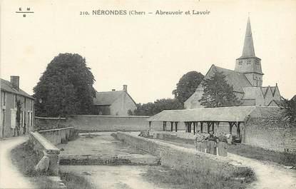 """CPA FRANCE 18 """"Nérondes, Abreuvoir et Lavoirs"""""""