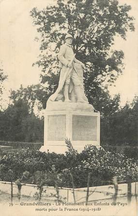 "CPA FRANCE 60 ""Grandvilliers, monument aux morts"""
